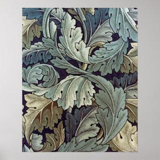William Morris Acanthus Floral Wallpaper Design Print