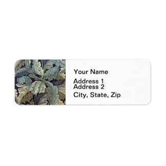 William Morris Acanthus Floral Wallpaper Design Return Address Label