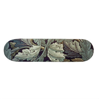 William Morris Acanthus Floral Wallpaper Design Skateboard