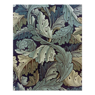 William Morris Acanthus Floral Wallpaper Design Perfect Poster