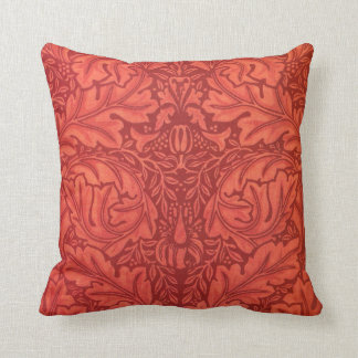 William Morris Acanthus For Velveteen Design Throw Pillow