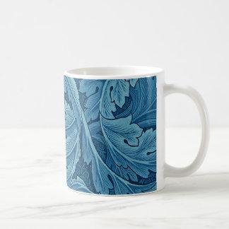William Morris Acanthus in Blue Classic White Coffee Mug