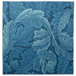 William Morris Acanthus in Blue Napkin