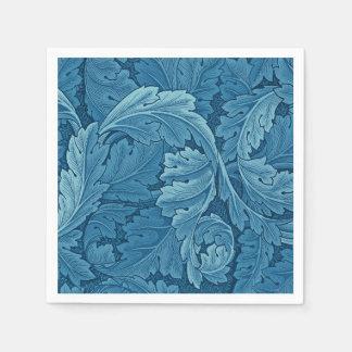 William Morris Acanthus Vintage Blue Paper Napkin