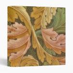 William Morris Acanthus Vintage Floral Vinyl Binder