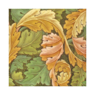 William Morris Acanthus Vintage Floral Gallery Wrapped Canvas