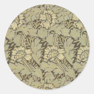 William Morris Anemone Pattern Classic Round Sticker