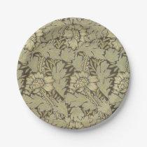 William Morris Anemone Pattern Paper Plate
