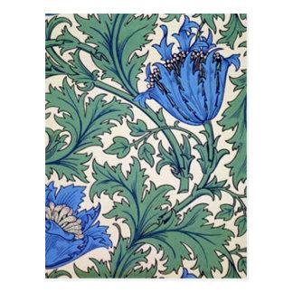 """William Morris """"Anemone"""" Postcard"""