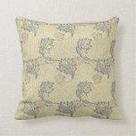 William Morris Apple Design Pillow