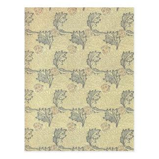 William Morris Apple Design Postcard
