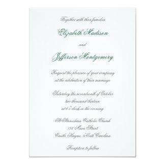 "William Morris Aqua Leaves Wedding Invitation 5"" X 7"" Invitation Card"