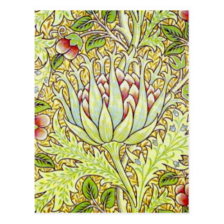 William Morris Artichoke Postcard