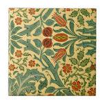 """William Morris - Autumn Flower pattern Ceramic Tile<br><div class=""""desc"""">William Morris - Autumn Flower pattern ceramic tile.</div>"""