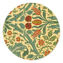 William Morris - Autumn Flower pattern Classic Round Sticker