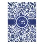 """William Morris azul y blanco elegante floral Invitación 5"""" X 7"""""""