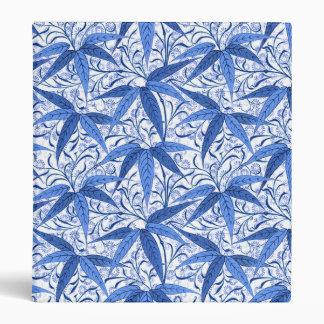 William Morris Bamboo Print, Cobalt Blue & White 3 Ring Binder