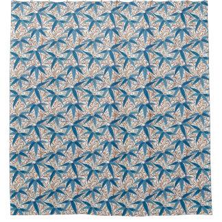 william morris bamboo print denim blue u0026amp white shower curtain