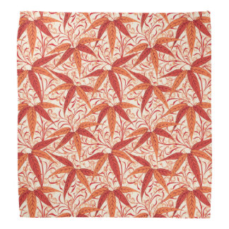 William Morris Bamboo Print, Mandarin Orange Bandana