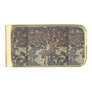 William Morris beautiful art nouveau work Gold Finish Money Clip