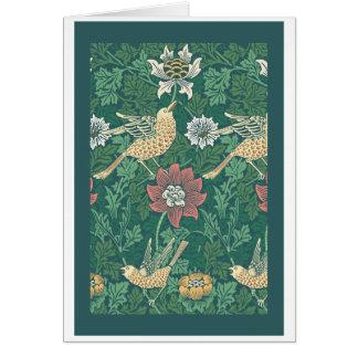 William Morris 'Bird and Anemone Chintz' Card