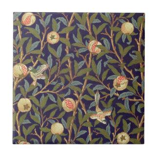 William Morris Bird And Pomegranate Ceramic Tile