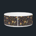"""William Morris Bird And Pomegranate Vintage Art Bowl<br><div class=""""desc"""">William Morris Bird And Pomegranate Fruit Wallpaper Pattern Design William Morris was an English artist, writer, textile designer and socialist associated with the Pre-Raphaelite Brotherhood and English Arts and Crafts Movement. This gorgeous wallpaper design shows birds amidst branches of foliage and pomegranate fruits. Art by William Morris Movement: Arts and...</div>"""