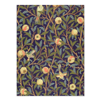 William Morris Bird And Pomegranate Vintage Art Card