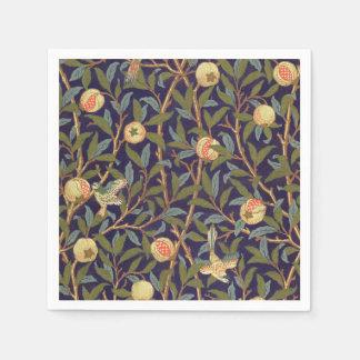 William Morris Bird And Pomegranate Vintage Art Paper Napkin