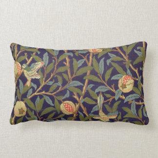 William Morris Bird And Pomegranate Vintage Floral Lumbar Pillow