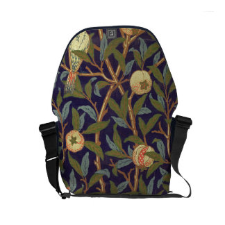 William Morris Bird And Pomegranate Vintage Floral Small Messenger Bag
