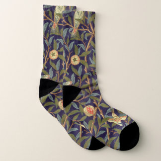 William Morris Bird And Pomegranate Vintage Floral Socks