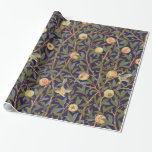William Morris Bird And Pomegranate Vintage Floral Wrapping Paper at Zazzle