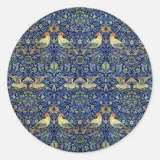 William Morris Bird Pattern Classic Round Sticker