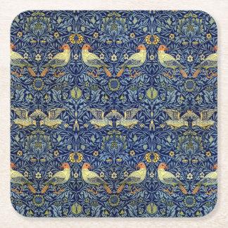 William Morris Bird Pattern Square Paper Coaster