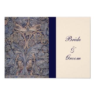 "William Morris Bird Pattern Wedding Invitations 5"" X 7"" Invitation Card"