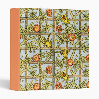 William Morris birds and flowers pattern 3 Ring Binder