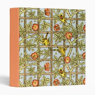 William Morris birds and flowers pattern 3 Ring Binder