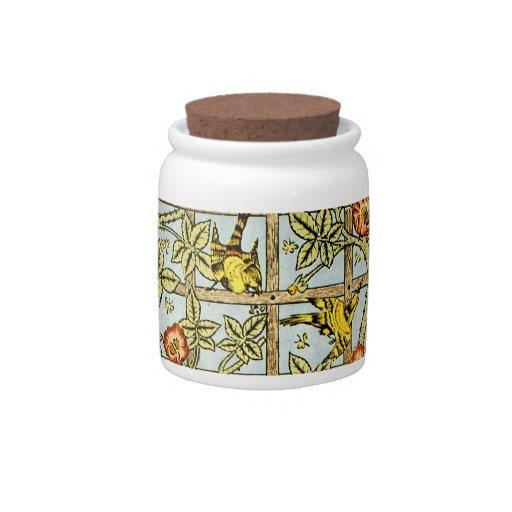 William Morris birds and flowers pattern Candy Jar