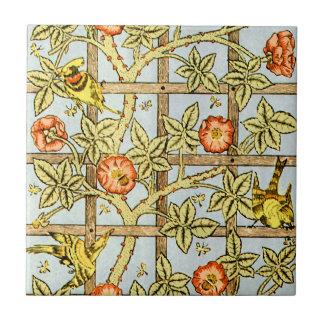 William Morris birds and flowers pattern Ceramic Tile