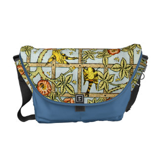 William Morris birds and flowers pattern Commuter Bag