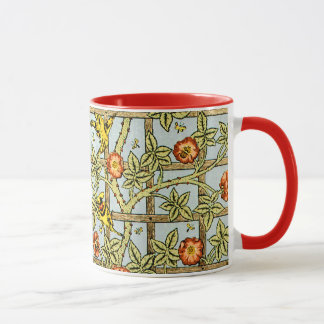William Morris birds and flowers pattern Mug