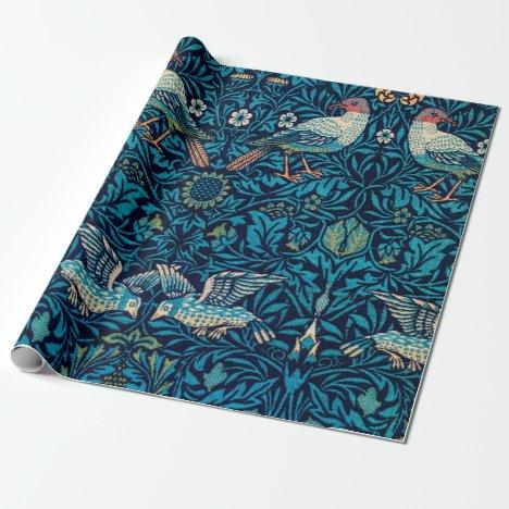William Morris Birds Art Nouveau Floral Pattern Wrapping Paper