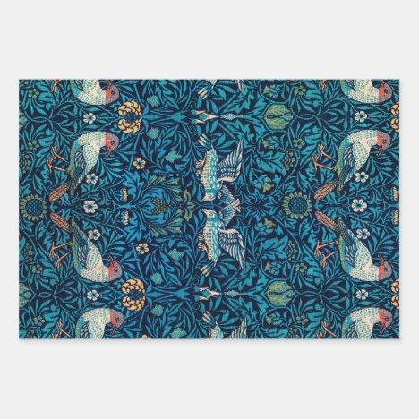 William Morris Birds Art Nouveau Floral Pattern Wrapping Paper Sheets
