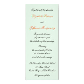 "William Morris Birds & Flowers Wedding Invitation 4"" X 9.25"" Invitation Card"