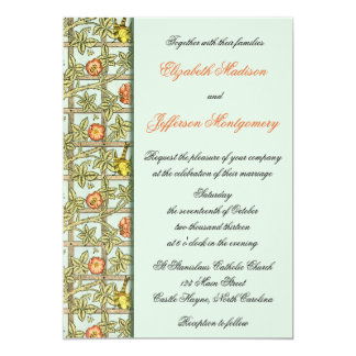 William Morris Birds & Flowers Wedding Invitation
