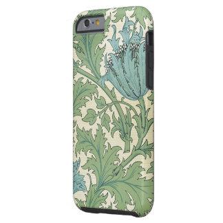 William Morris Blue Anemone Design Floral Vintage Tough iPhone 6 Case