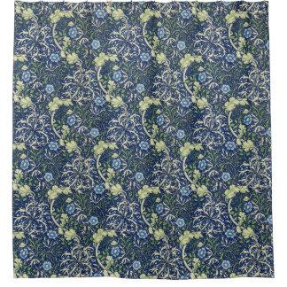 William Morris Blue Daisies Shower Curtain