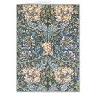 William Morris Blue Floral Card