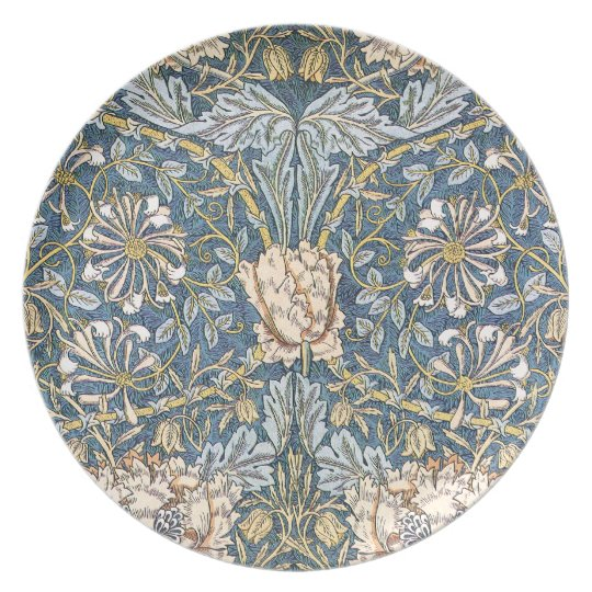 William Morris Blue Floral Plate